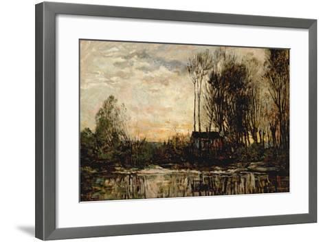 Evening at Bas Meudon, 1874-Charles Francois Daubigny-Framed Art Print