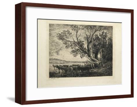 The Ford, 1865-Charles Francois Daubigny-Framed Art Print