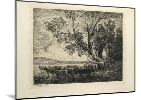 The Ford, 1865-Charles Francois Daubigny-Mounted Giclee Print
