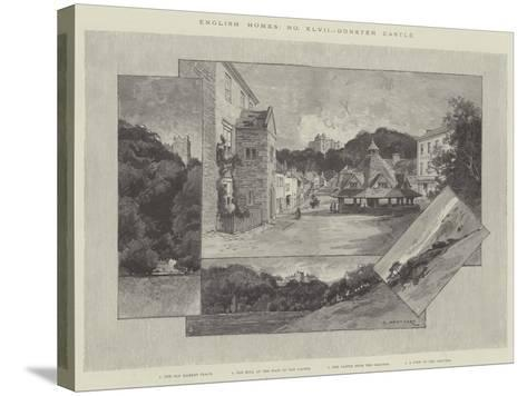 Dunster Castle-Charles Auguste Loye-Stretched Canvas Print