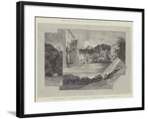 Dunster Castle-Charles Auguste Loye-Framed Art Print