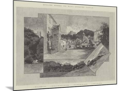 Dunster Castle-Charles Auguste Loye-Mounted Giclee Print