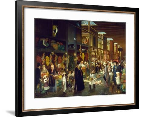 Law Sakes Alive! What are You Doing, Baby?, C.1872-Charles Cole Markham-Framed Art Print