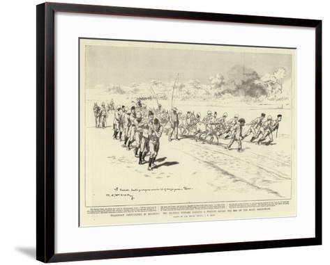 Transport Difficulties in Rhodesia-Charles Edwin Fripp-Framed Art Print