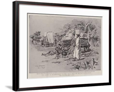 The Rising in Matabeleland, Halting for a Meal on the Way to Buluwayo-Charles Edwin Fripp-Framed Art Print