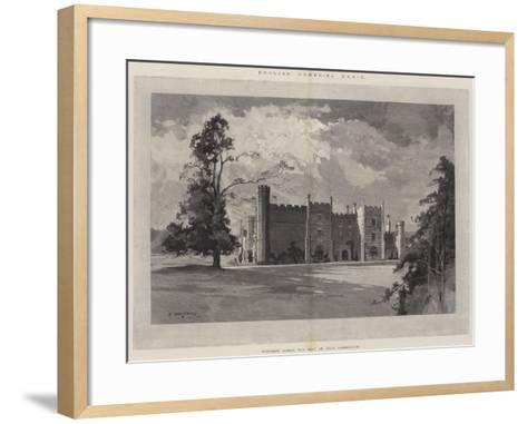 English Homes, Wycombe Abbey, the Seat of Earl Carrington-Charles Auguste Loye-Framed Art Print