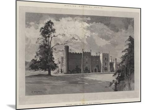 English Homes, Wycombe Abbey, the Seat of Earl Carrington-Charles Auguste Loye-Mounted Giclee Print