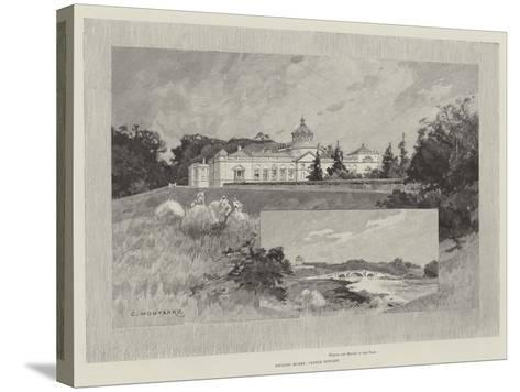 Castle Howard-Charles Auguste Loye-Stretched Canvas Print
