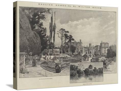 Wilton House-Charles Auguste Loye-Stretched Canvas Print
