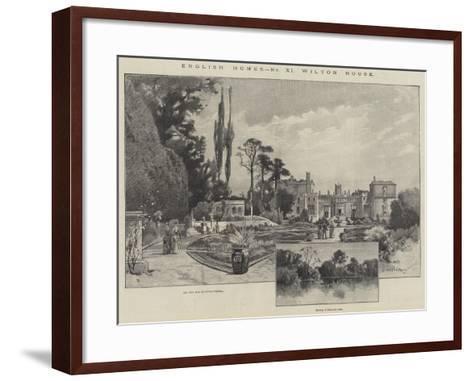 Wilton House-Charles Auguste Loye-Framed Art Print