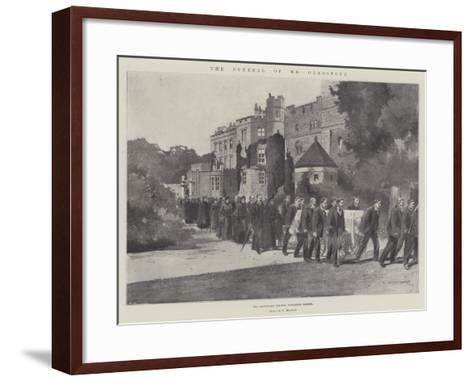 The Funeral of Mr Gladstone, the Procession Leaving Hawarden Castle-Charles Auguste Loye-Framed Art Print