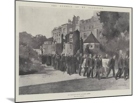 The Funeral of Mr Gladstone, the Procession Leaving Hawarden Castle-Charles Auguste Loye-Mounted Giclee Print