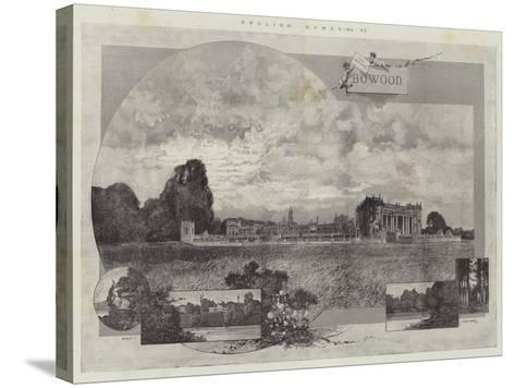 English Homes, Bowood-Charles Auguste Loye-Stretched Canvas Print