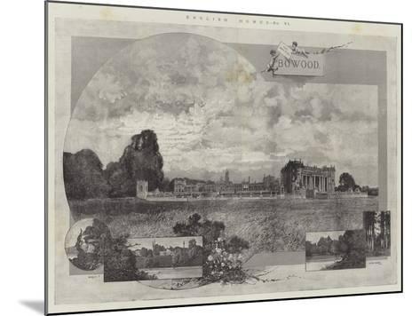 English Homes, Bowood-Charles Auguste Loye-Mounted Giclee Print