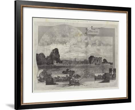 English Homes, Bowood-Charles Auguste Loye-Framed Art Print