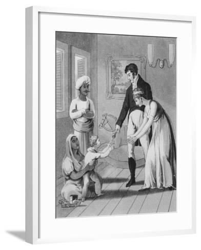 An European Lady and Her Family-Charles D'oyly-Framed Art Print
