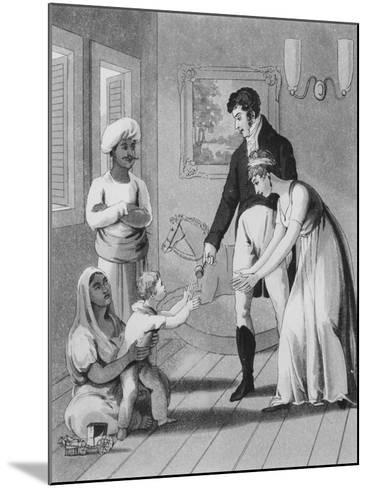 An European Lady and Her Family-Charles D'oyly-Mounted Giclee Print