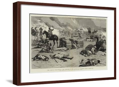 The War in the Soudan, the Repulse of the Attack on Baker's Zeriba, 22 March-Charles Edwin Fripp-Framed Art Print