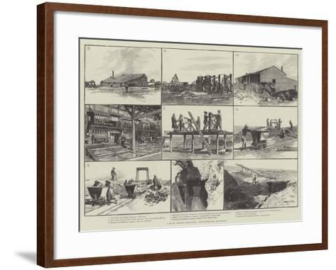 A South African Gold-Field, Witwatersrand, Transvaal-Charles Auguste Loye-Framed Art Print