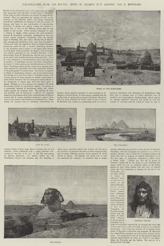 Illustrations from En Egypte, Notes Et Croquis D'Un Artiste-Charles Auguste Loye-Stretched Canvas Print