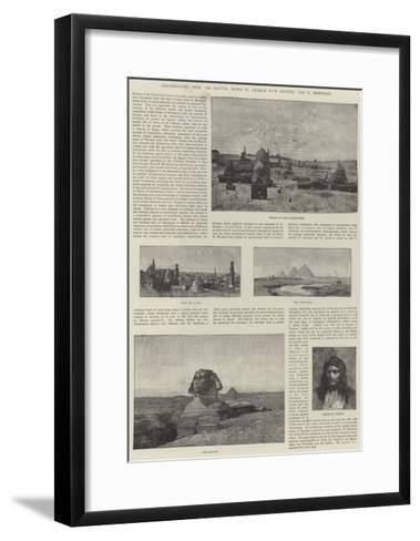 Illustrations from En Egypte, Notes Et Croquis D'Un Artiste-Charles Auguste Loye-Framed Art Print