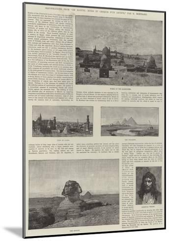 Illustrations from En Egypte, Notes Et Croquis D'Un Artiste-Charles Auguste Loye-Mounted Giclee Print