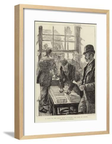 A Visit to the Royal Mint, Receiving the Gold in Ingots-Charles Paul Renouard-Framed Art Print