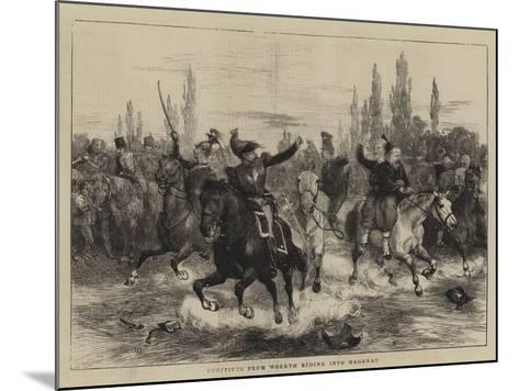 Fugitives from Woerth Riding into Hagenau-Charles Green-Mounted Giclee Print