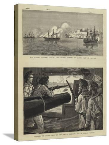 The Bombardment of Alexandria-Charles Joseph Staniland-Stretched Canvas Print