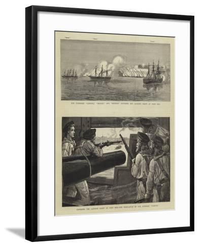 The Bombardment of Alexandria-Charles Joseph Staniland-Framed Art Print