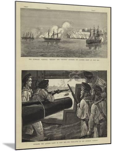 The Bombardment of Alexandria-Charles Joseph Staniland-Mounted Giclee Print