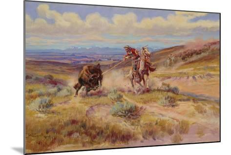 Spearing a Buffalo, 1925-Charles Marion Russell-Mounted Giclee Print