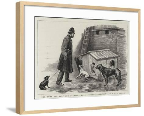 The Home for Lost and Starving Dogs, Battersea, Bringing in a New Comer-Charles Paul Renouard-Framed Art Print