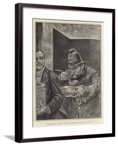 Behind the Scenes, Robert Intercepts the Turtle Soup-Charles Paul Renouard-Framed Art Print