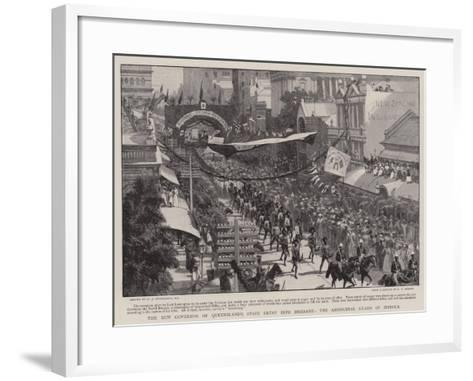 The New Governor of Queensland's State Entry into Brisbane, the Aboriginal Guard of Honour-Charles Joseph Staniland-Framed Art Print