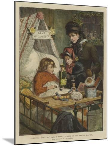 Christmas Comes But Once a Year, a Scene at the Evelina Hospital-Charles Joseph Staniland-Mounted Giclee Print