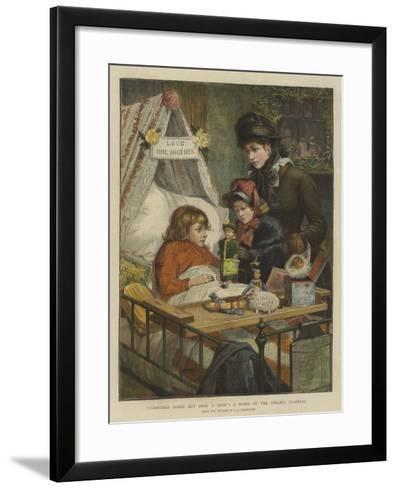 Christmas Comes But Once a Year, a Scene at the Evelina Hospital-Charles Joseph Staniland-Framed Art Print
