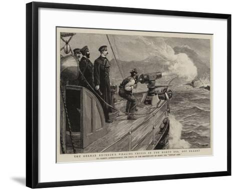 The German Emperor's Whaling Cruise in the North Sea, Off Skaaro-Charles Joseph Staniland-Framed Art Print