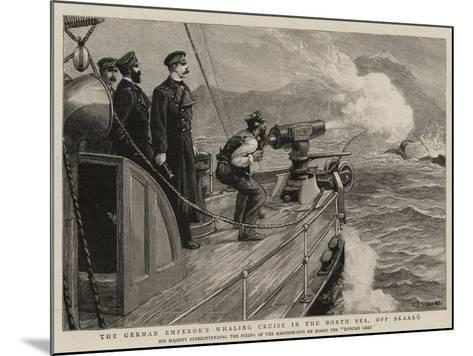 The German Emperor's Whaling Cruise in the North Sea, Off Skaaro-Charles Joseph Staniland-Mounted Giclee Print