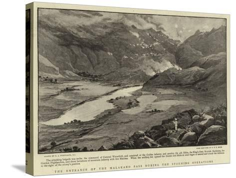 The Entrance of the Malakand Pass During the Storming Operations-Charles Joseph Staniland-Stretched Canvas Print