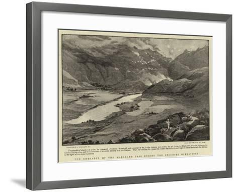 The Entrance of the Malakand Pass During the Storming Operations-Charles Joseph Staniland-Framed Art Print
