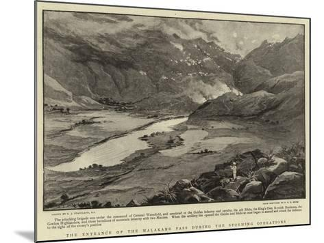 The Entrance of the Malakand Pass During the Storming Operations-Charles Joseph Staniland-Mounted Giclee Print