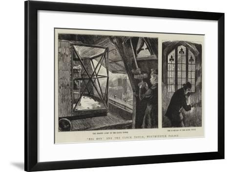 Big Ben and the Clock Tower, Westminster Palace-Charles Paul Renouard-Framed Art Print