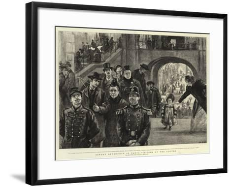Sunday Afternoon in Paris, Visitors at the Louvre-Charles Paul Renouard-Framed Art Print