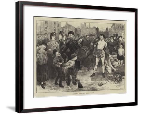 London Street Acrobats-Charles Green-Framed Art Print