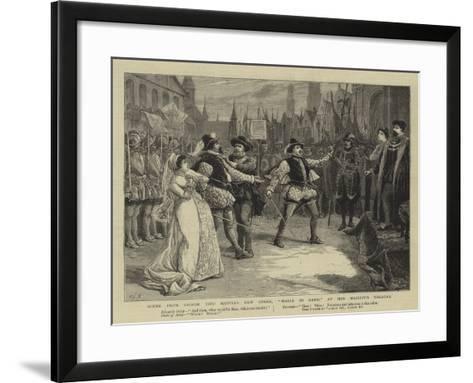 Scene from Signor Tito Mattei's New Opera, Maria Di Gand, at Her Majesty's Theatre-Charles Joseph Staniland-Framed Art Print
