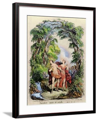Orpheus Leading Eurydice Out of Hell for the Opera 'Orpheus and Eurydice' by Christoph Von Gluck (1-Charles Monnet-Framed Art Print