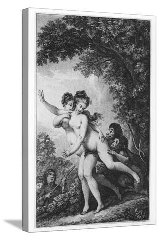 The Cries Proceeded from Two Young Women Who Were Tripping Disrobed Among the Mead-Charles Monnet-Stretched Canvas Print