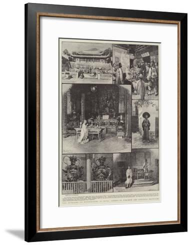 The Outrages on Missionaries in China, Scenes in Foochow and Kucheng Districts-Charles Joseph Staniland-Framed Art Print