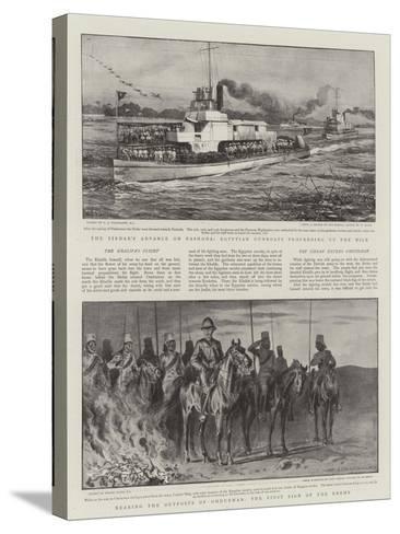 Battle of Omdurman-Charles Joseph Staniland-Stretched Canvas Print